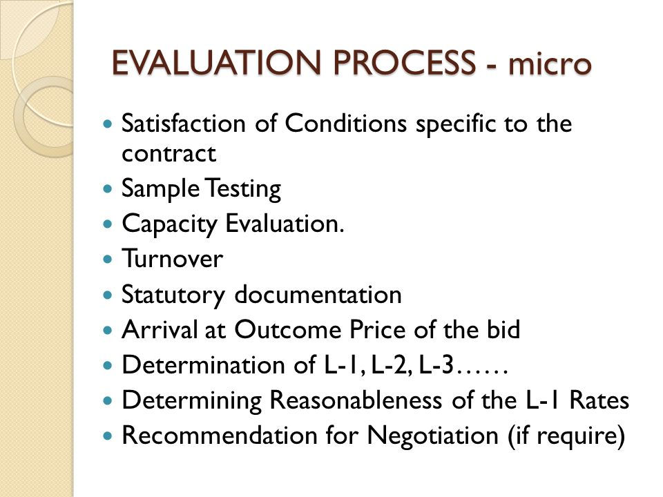 EVALUATION PROCESS - micro