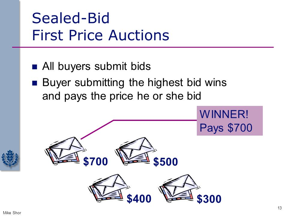 Sealed-Bid First Price Auctions