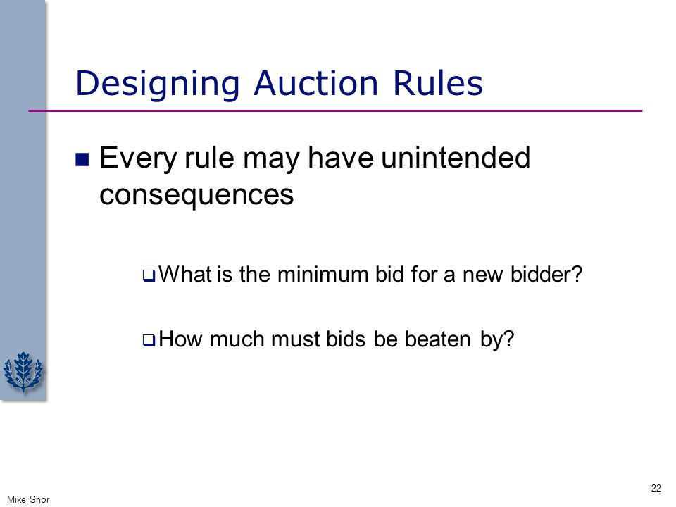 Designing Auction Rules
