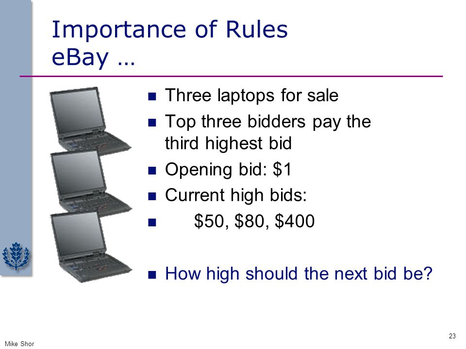 Importance of Rules eBay …