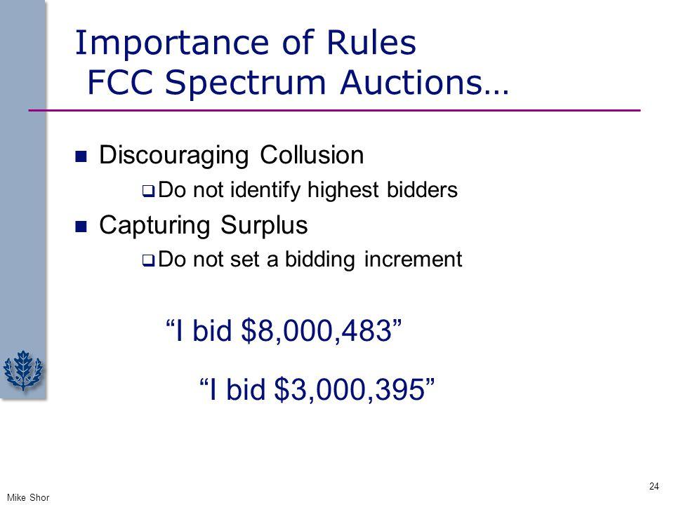 Importance of Rules FCC Spectrum Auctions…