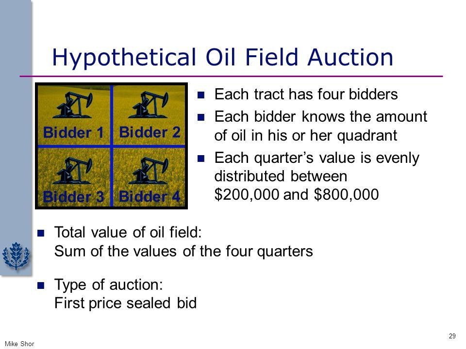 Hypothetical Oil Field Auction