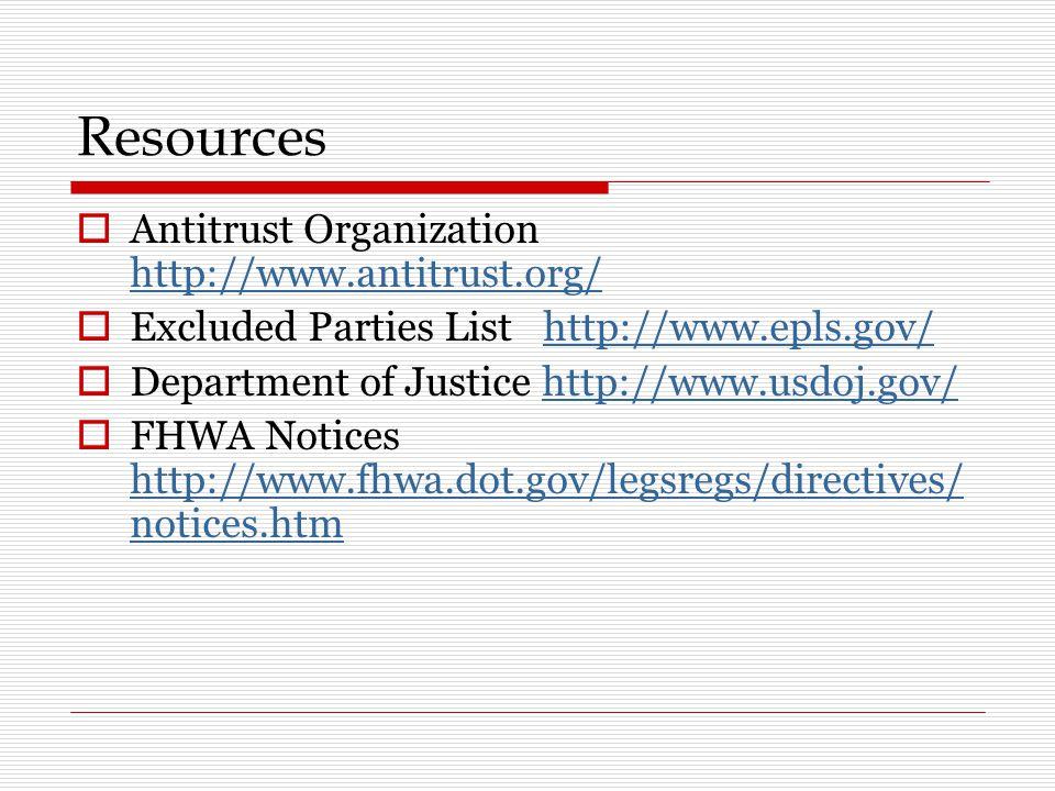 Resources Antitrust Organization http://www.antitrust.org/