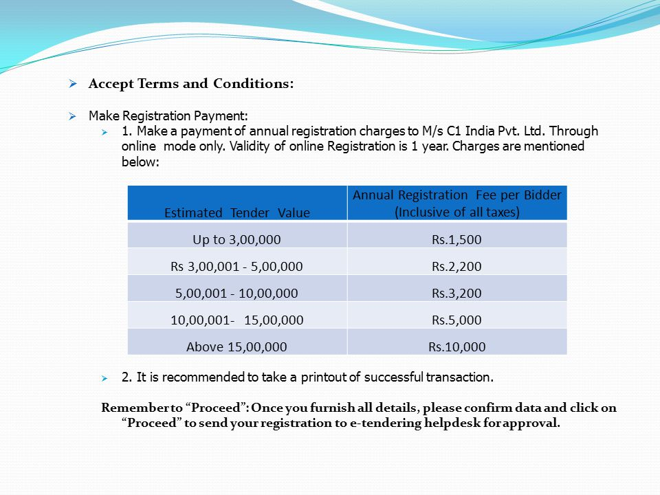 Accept Terms and Conditions: Estimated Tender Value
