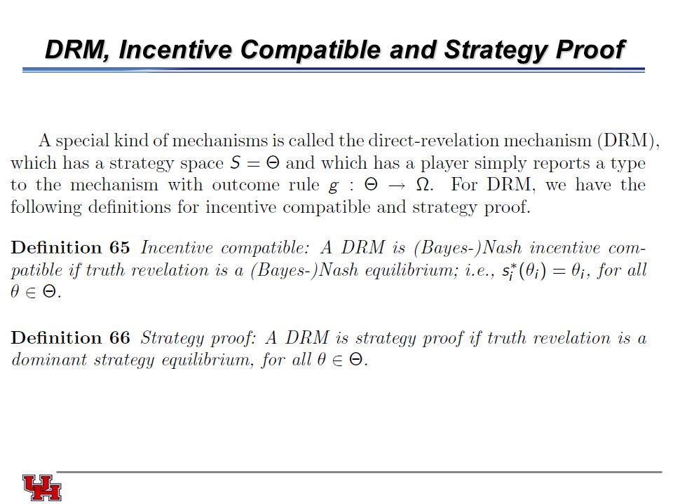 DRM, Incentive Compatible and Strategy Proof
