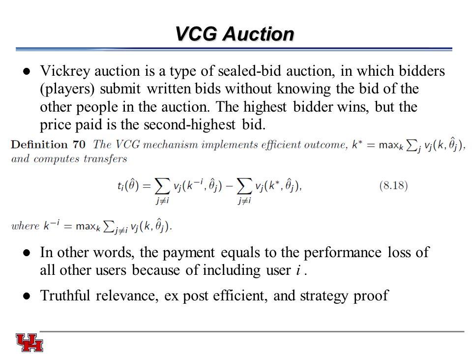 VCG Auction