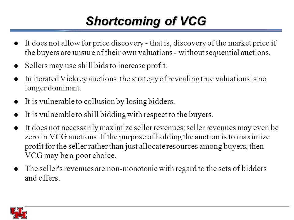 Shortcoming of VCG
