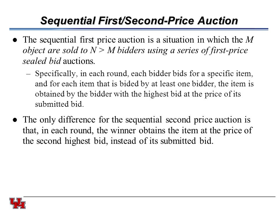 Sequential First/Second-Price Auction