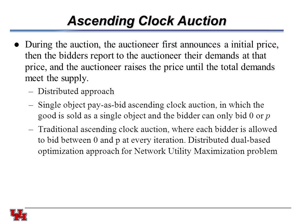 Ascending Clock Auction