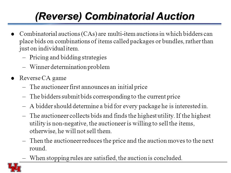 (Reverse) Combinatorial Auction