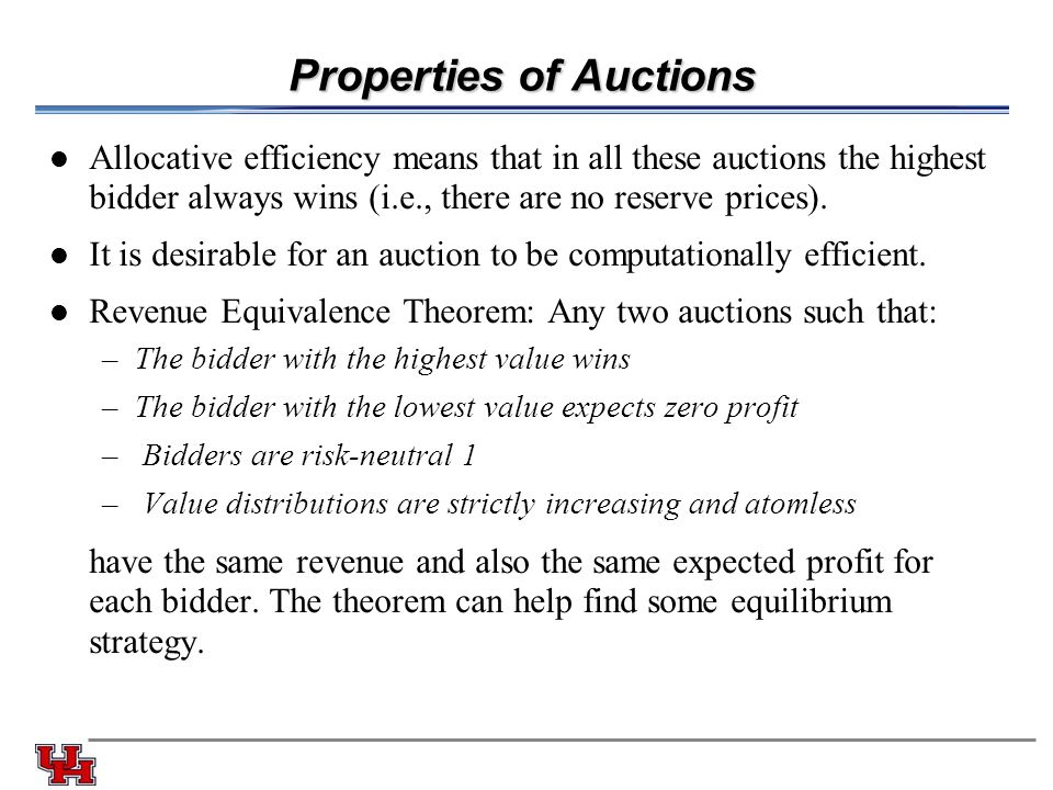 Properties of Auctions