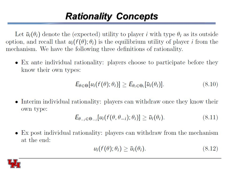 Rationality Concepts