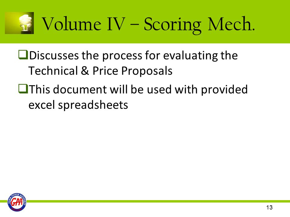 Volume IV – Scoring Mech.