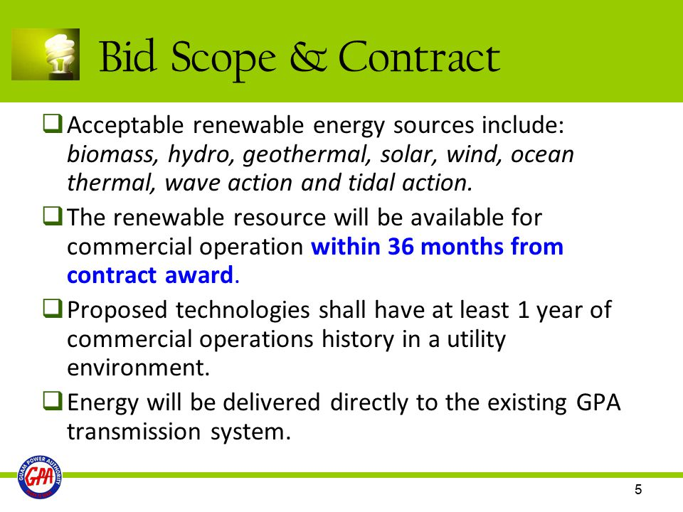 Bid Scope & Contract