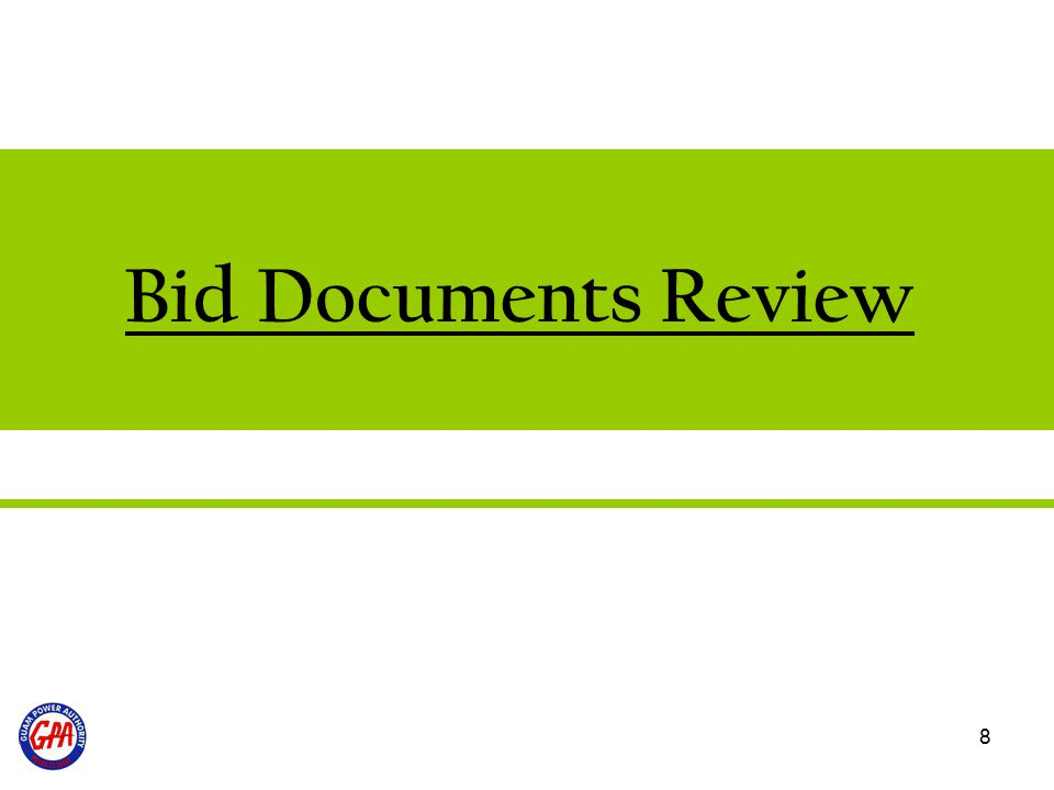 Bid Documents Review