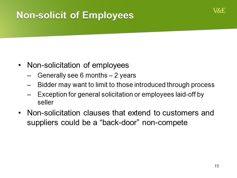 Non-solicit of Employees