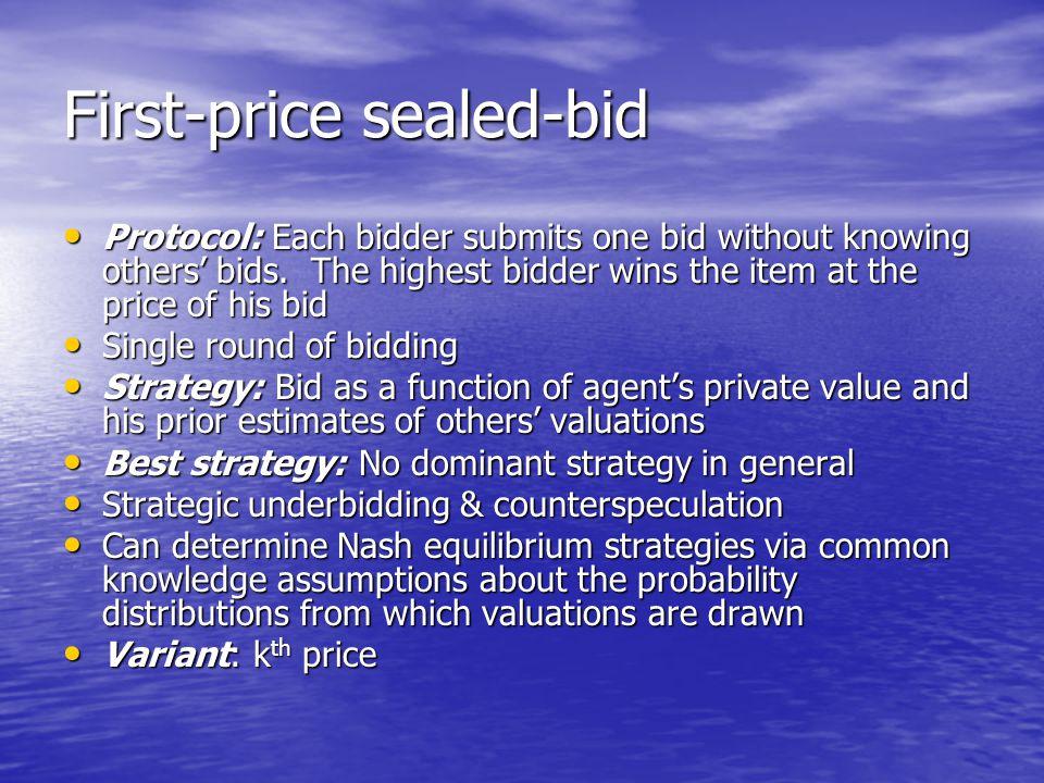 First-price sealed-bid