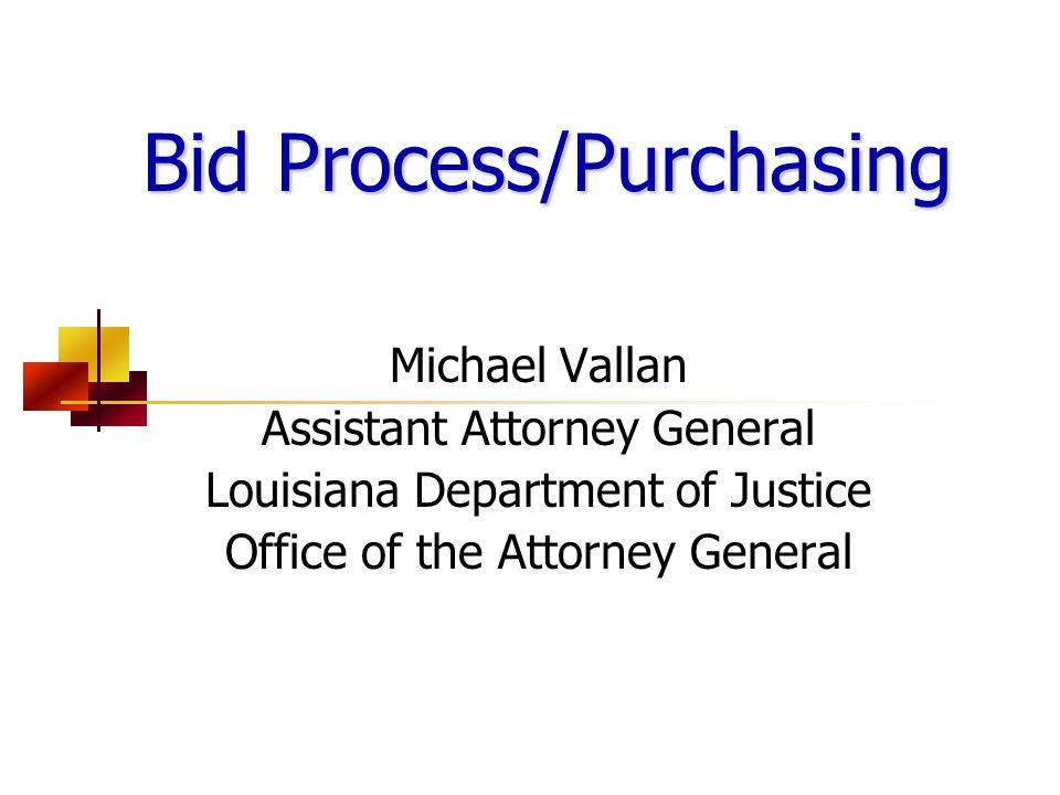 Bid Process/Purchasing