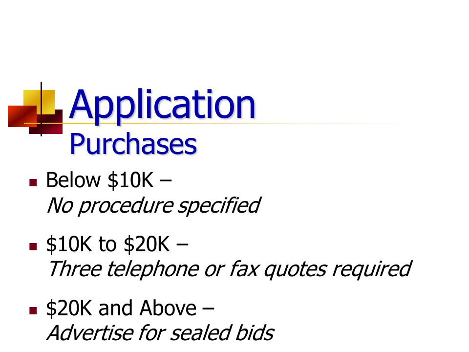 Application Purchases