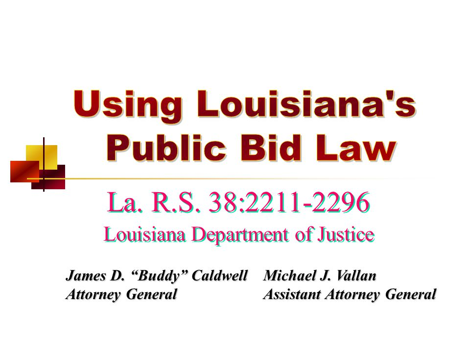 Louisiana Department of Justice