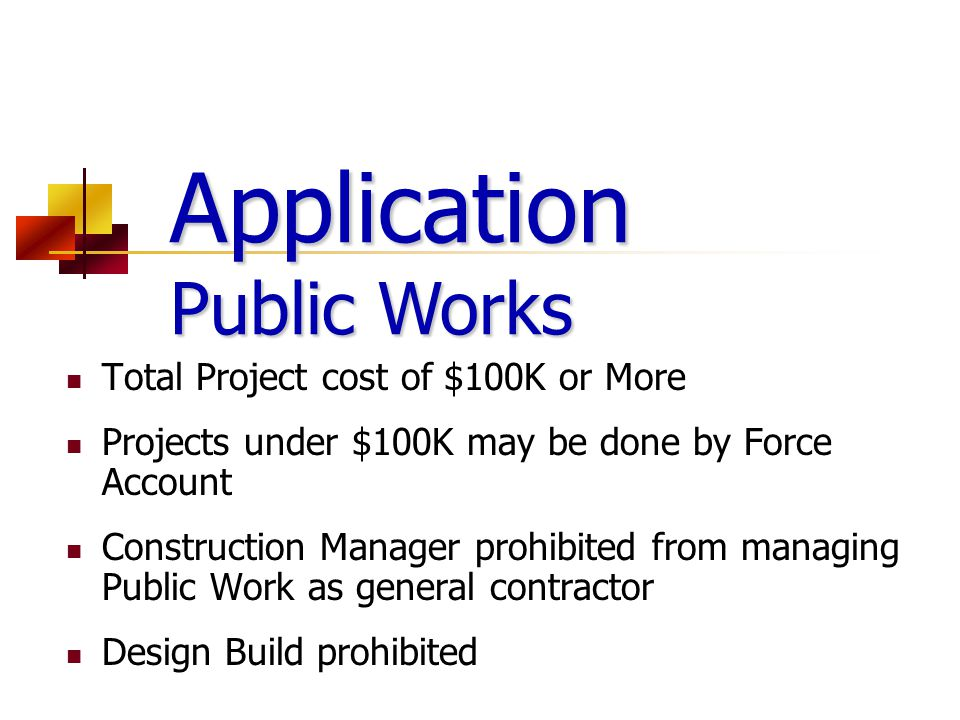 Application Public Works