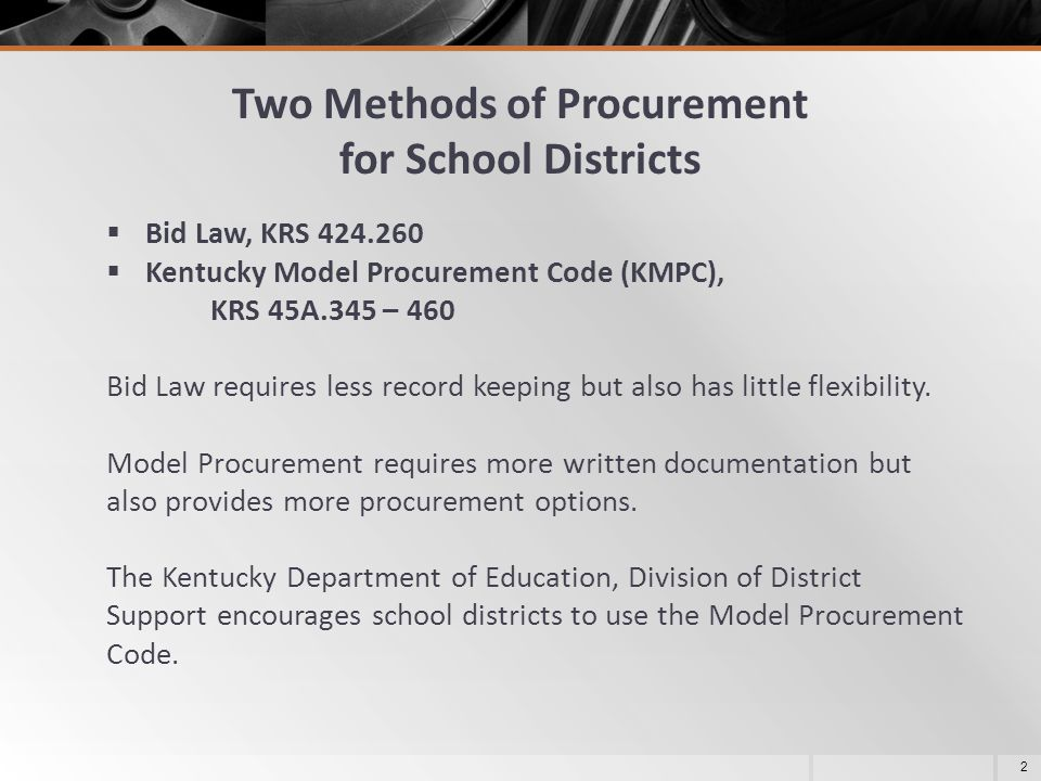 Two Methods of Procurement for School Districts