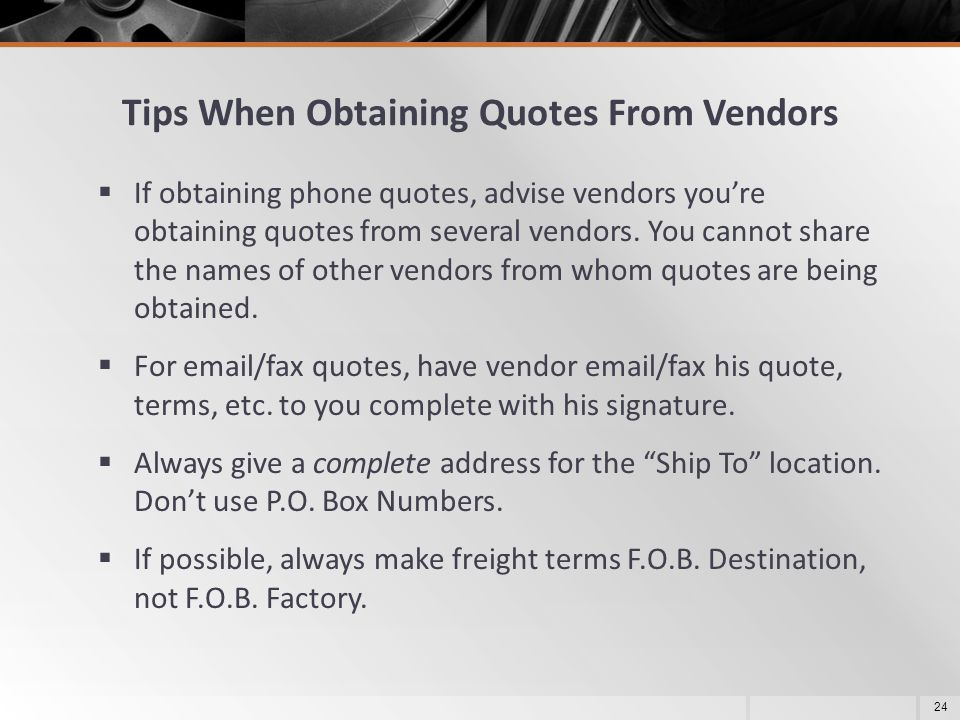 Tips When Obtaining Quotes From Vendors