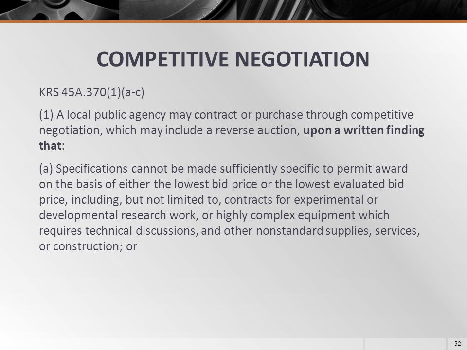 COMPETITIVE NEGOTIATION