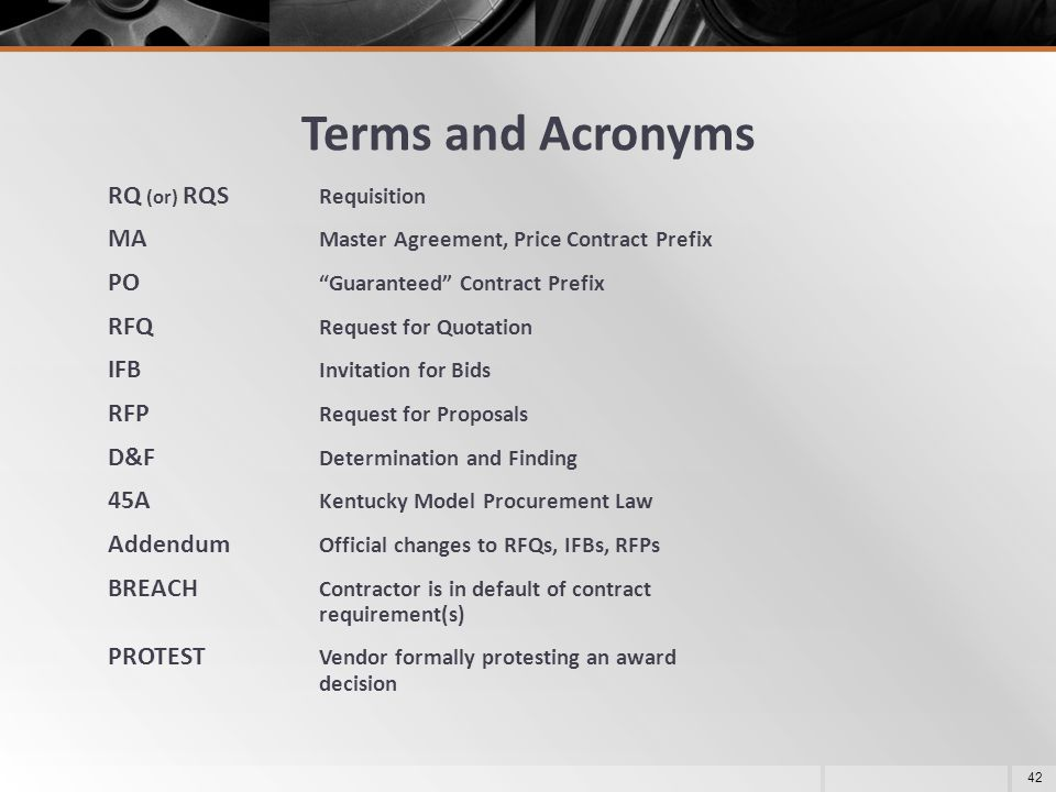Terms and Acronyms