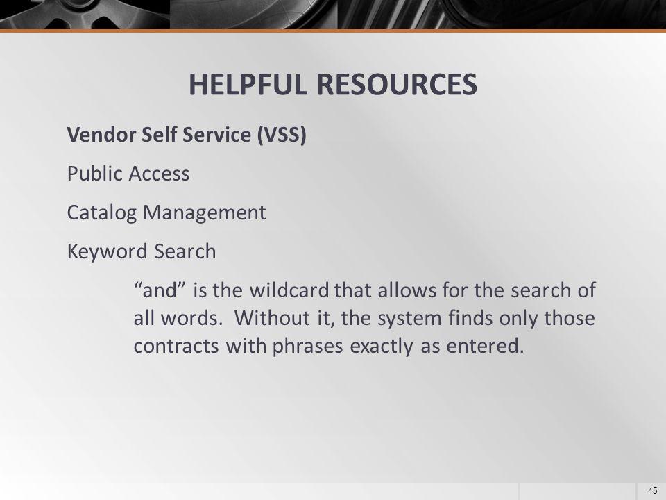 HELPFUL RESOURCES