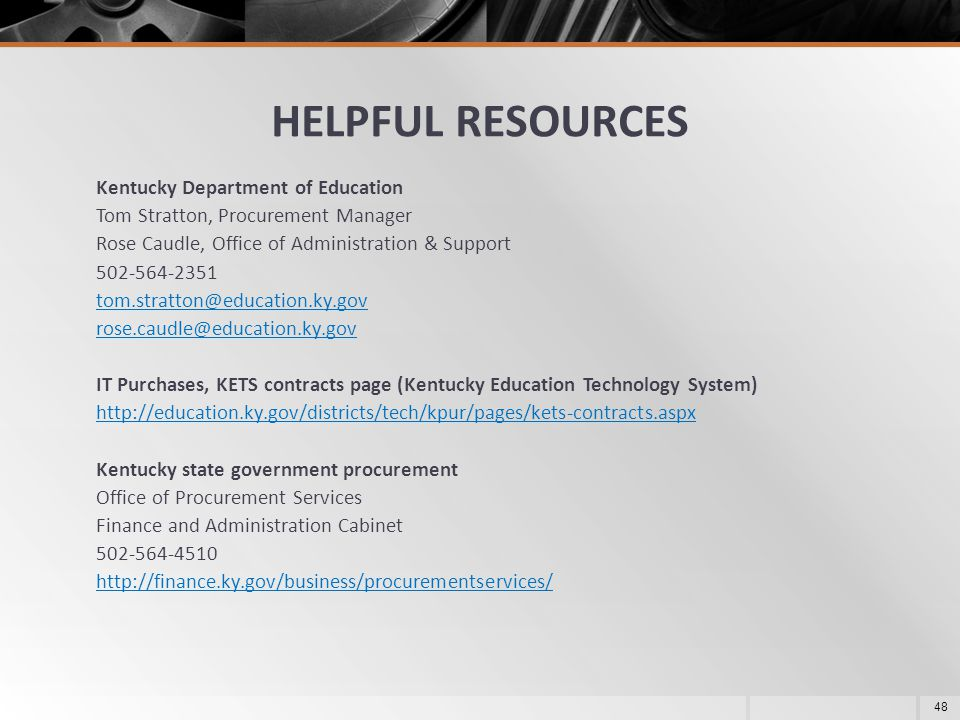 KENTUCKY MODEL PROCUREMENT CODE FOR LOCAL GOVERNMENT - ppt download