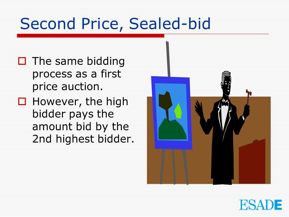 Second Price, Sealed-bid