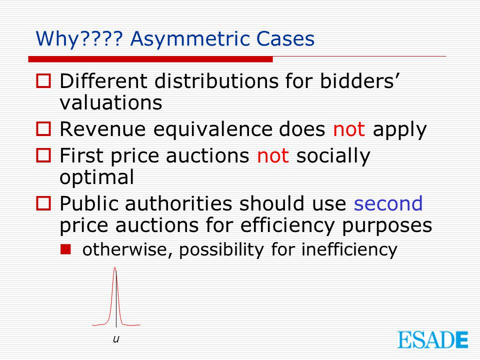 Different distributions for bidders' valuations