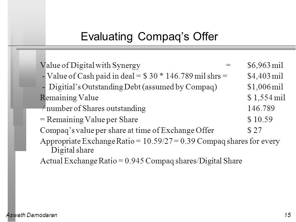 Evaluating Compaq's Offer