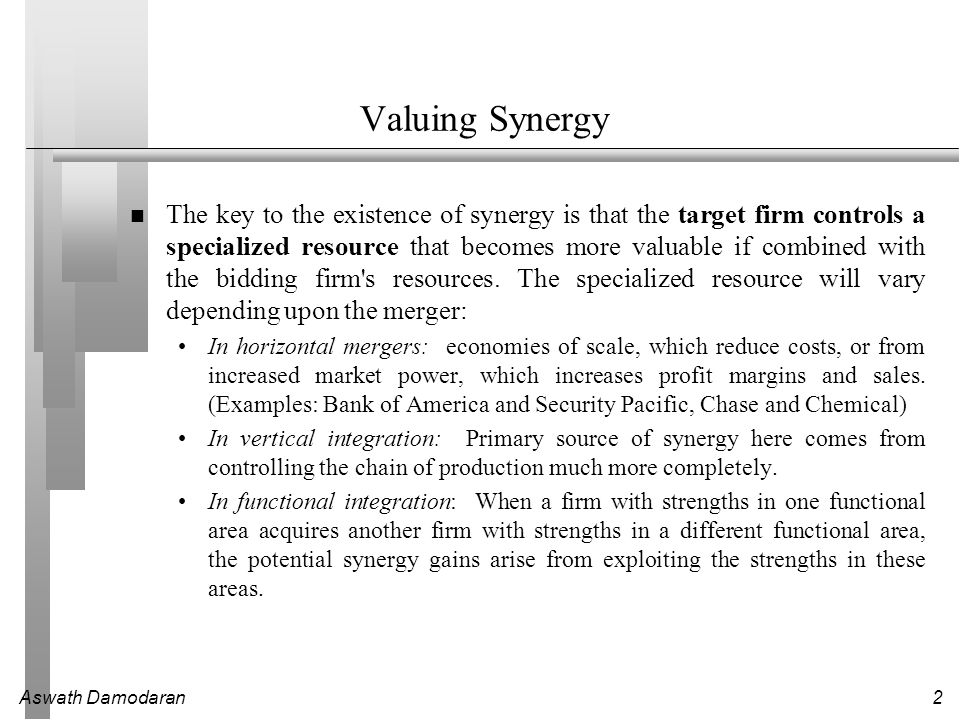 Valuing Synergy