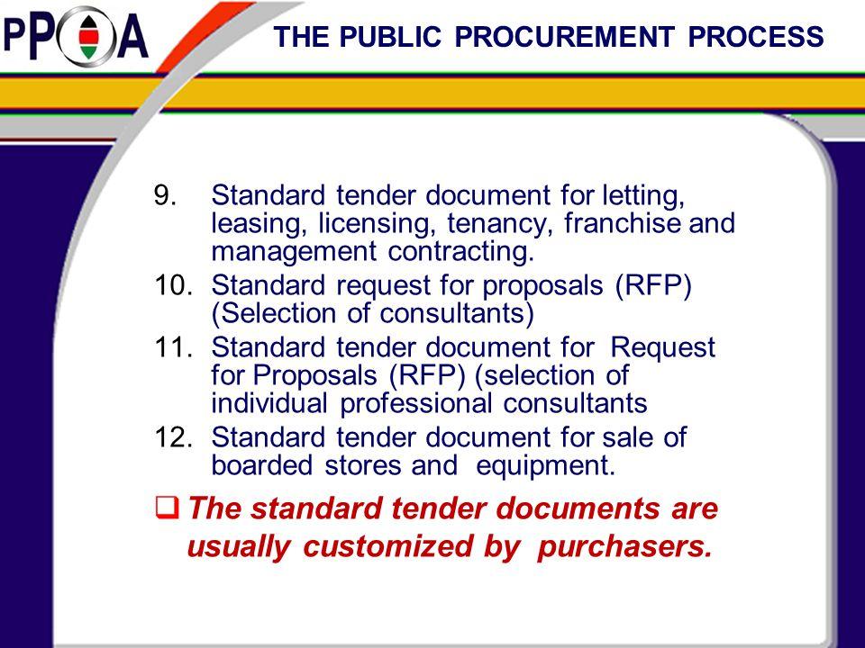 THE PUBLIC PROCUREMENT PROCESS