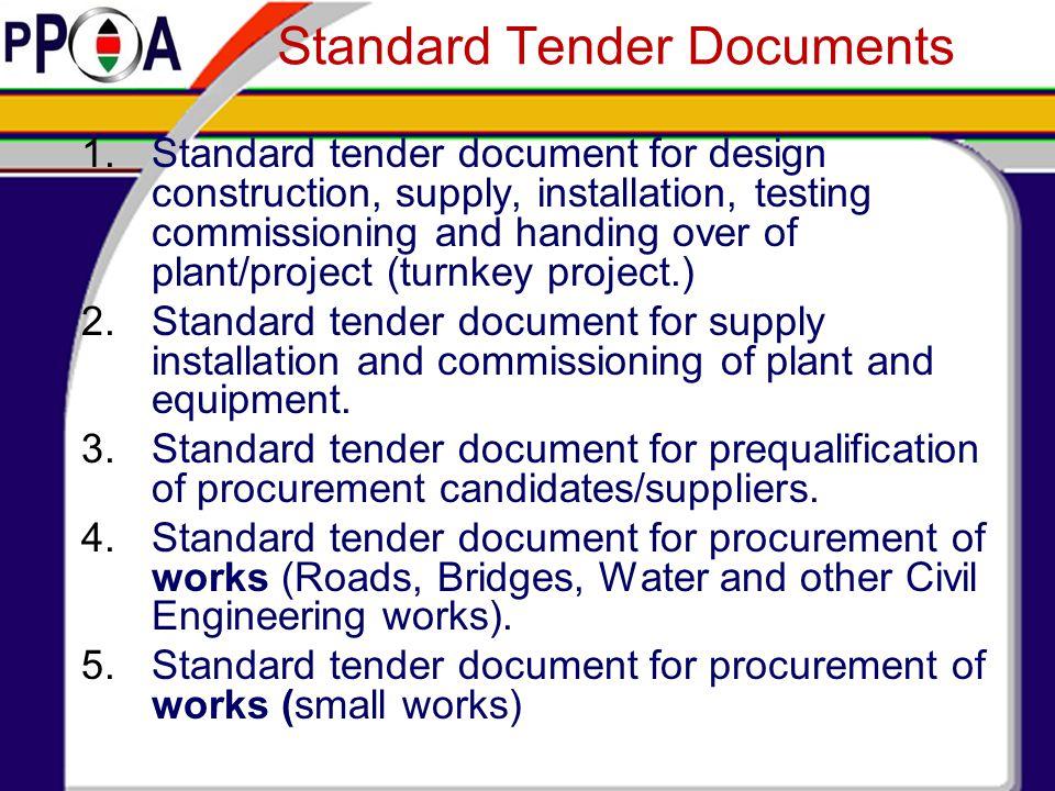 Standard Tender Documents