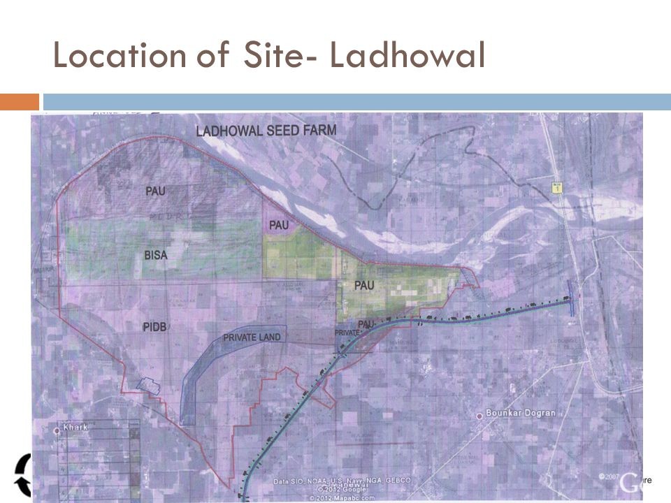 Location of Site- Ladhowal