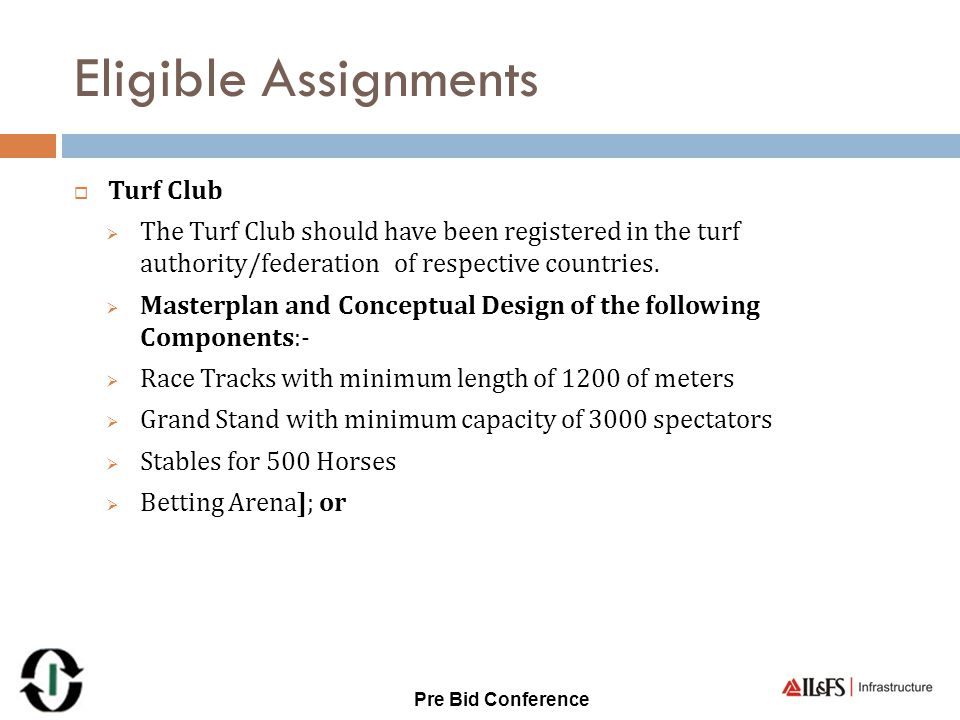 Eligible Assignments Turf Club