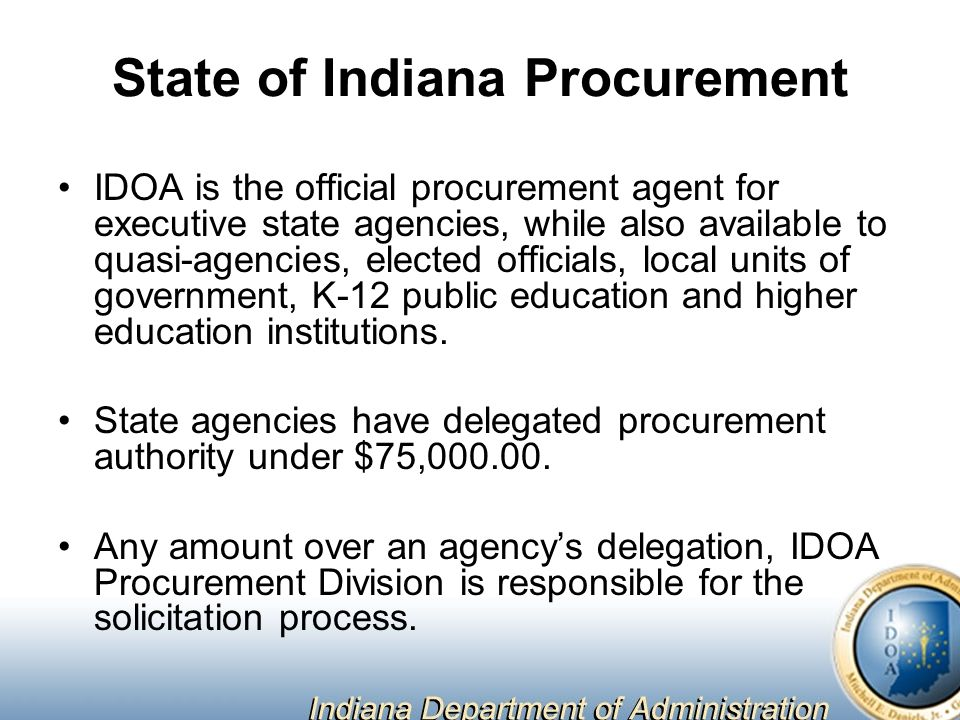 State of Indiana Procurement