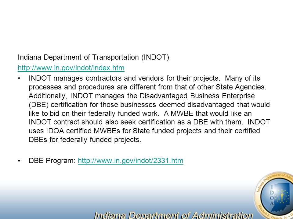 Indiana Department of Transportation (INDOT)