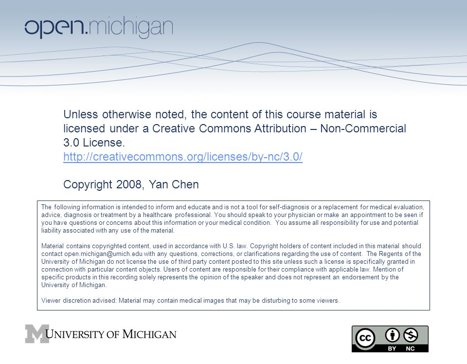 Unless otherwise noted, the content of this course material is licensed under a Creative Commons Attribution – Non-Commercial 3.0 License.
