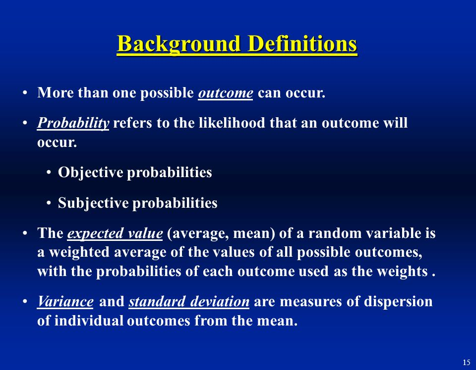Background Definitions