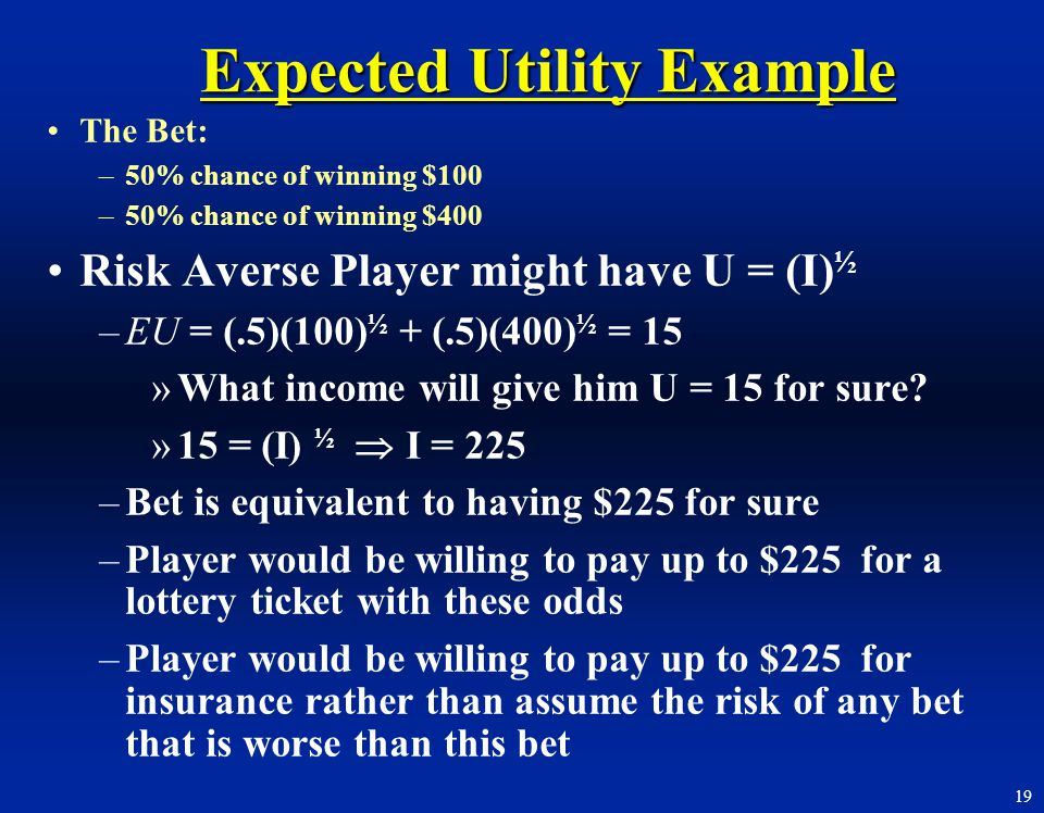 Expected Utility Example