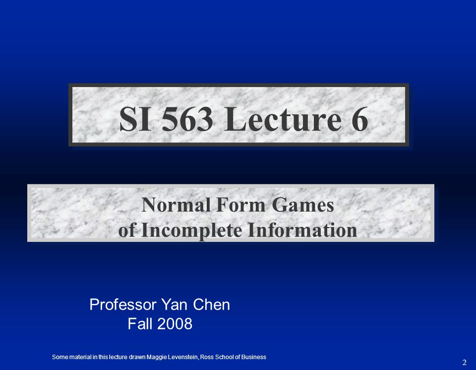 Normal Form Games of Incomplete Information