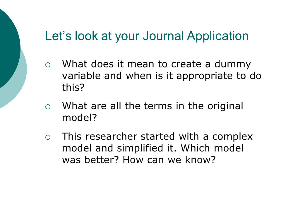 Let's look at your Journal Application