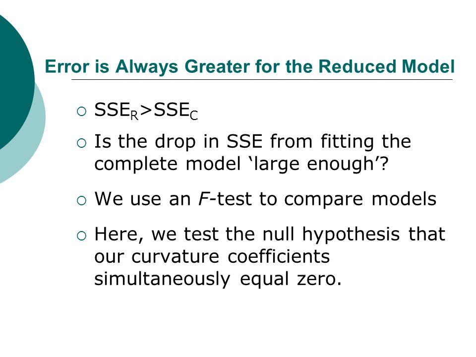 Error is Always Greater for the Reduced Model