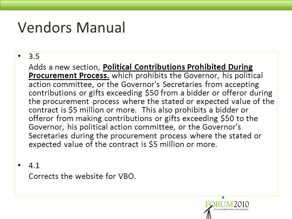 Vendors Manual 3.5.