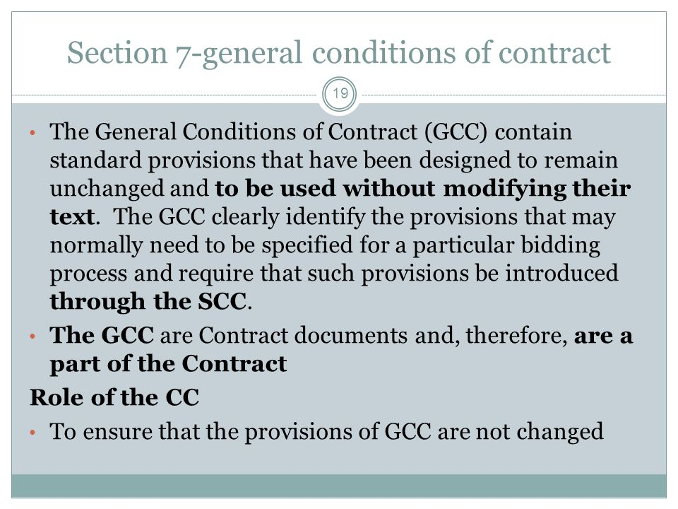 Section 7-general conditions of contract