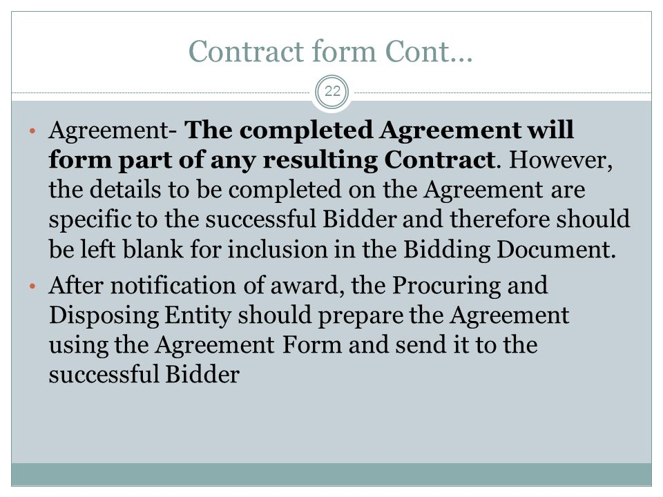Contract form Cont…